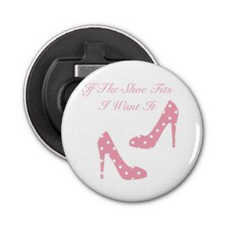 Si el zapato cabe el abrebotellas rosado abrebotellas redondo