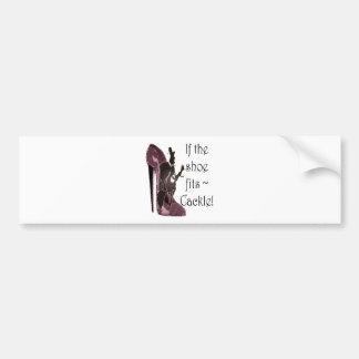 ¡Si el zapato cabe el cacareo del Regalos diver Etiqueta De Parachoque
