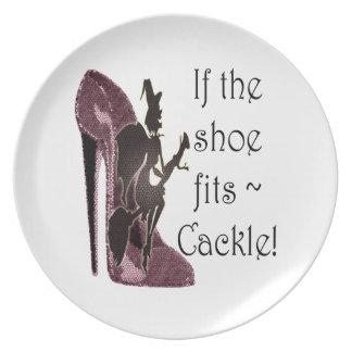 ¡Si el zapato cabe el cacareo del ~! Regalos diver Plato De Comida