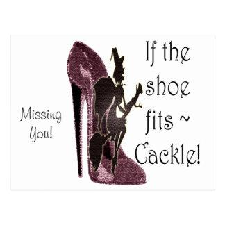 ¡Si el zapato cabe el cacareo del ~! Regalos Postal
