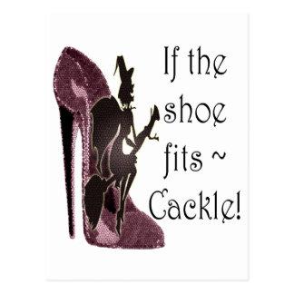 ¡Si el zapato cabe el cacareo del ~! Regalos Tarjeta Postal