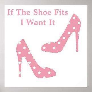 Si el zapato cabe el poster rosado