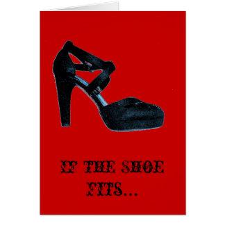Si el zapato cabe la tarjeta