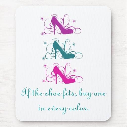 Si el zapato cabe Mousepad Alfombrilla De Ratones