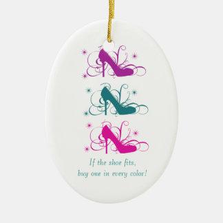 Si el zapato cabe oval adorne adorno