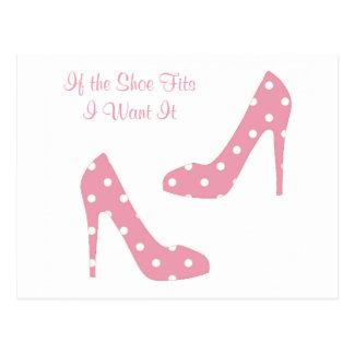 Si el zapato cabe rosa postal