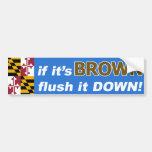 Si es Anthony Brown para el gobernador de Maryland Pegatina De Parachoque
