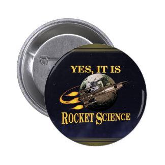 Sí, es botón de la ingeniería espacial pin redondo de 2 pulgadas