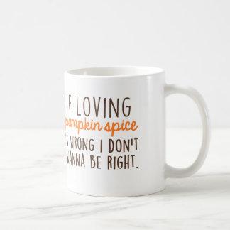 Si es cariñoso la especia de la calabaza es taza de café