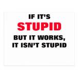 Si es estúpido postal