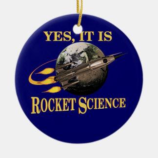 Sí, es ingeniería espacial adorno navideño redondo de cerámica