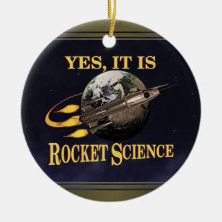 Sí, es ingeniería espacial adorno redondo de cerámica