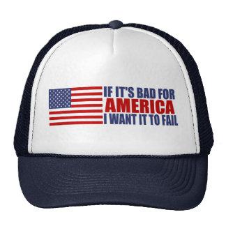 Si es malo para América Gorro De Camionero