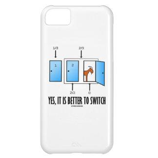 Sí, es mejor cambiar (tres puertas una cabra) carcasa para iPhone 5C