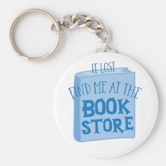 si es perdido encuéntreme en la librería llavero redondo tipo pin