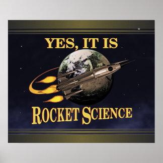 Sí, es poster de la ingeniería espacial