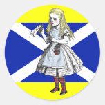 Sí Escocia Alicia en pegatina del país de las