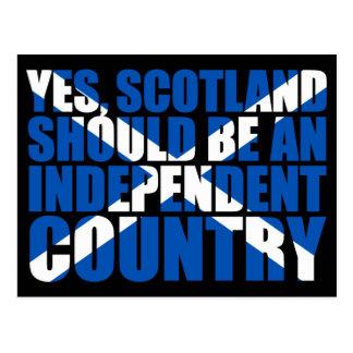 Sí, Escocia debe ser un país independiente, Postal