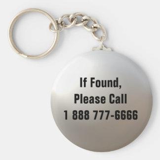 Si está encontrado, llame… Llavero