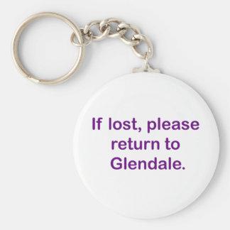 Si está perdido, vuelva por favor llavero redondo tipo pin