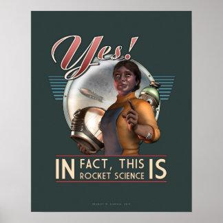¡Sí! Éste ES el poster de la ingeniería espacial