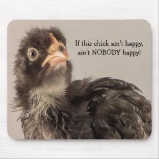 Si este polluelo no es feliz…. alfombrilla de raton