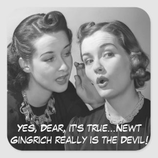 Sí estimado, el Newt es el diablo Pegatina Cuadrada