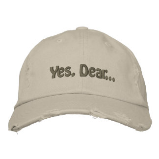 Sí, estimado… gorra de béisbol bordada