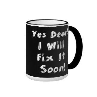 Sí estimado lo fijaré pronto taza de café