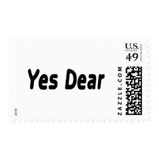 Sí estimado sello postal