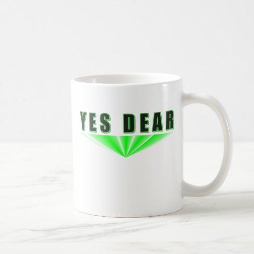 Sí estimado taza de café