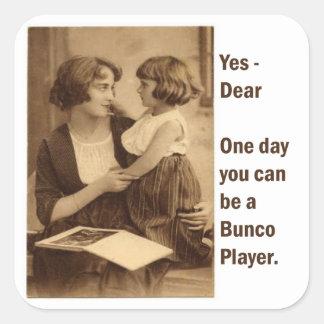 sí, estimado un día usted puede ser un jugador del pegatina cuadrada