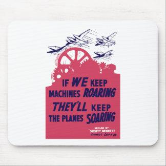 Si guardamos las máquinas que rugen -- WWII Tapetes De Raton