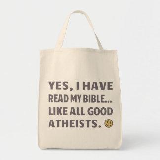 Sí, he leído mi biblia… como todos los buenos ateo bolsa