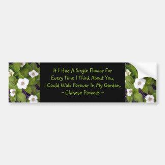 Si hice que un solo floreciera etiqueta de parachoque
