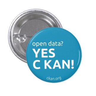 Sí insignia de C KAN (datos abiertos) Pin Redondo 2,5 Cm