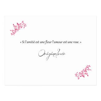 Si la amistad es una flor el amor es una rosa postales