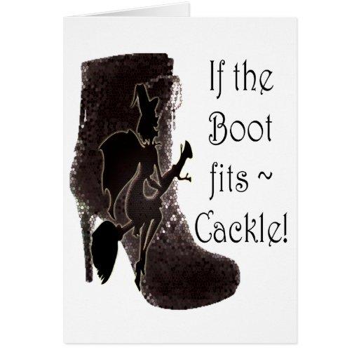 ¡Si la bota cabe el cacareo del ~! regalos diverti Tarjetas