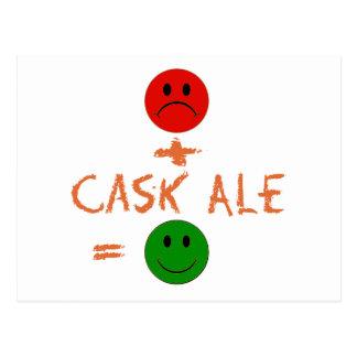 si la cerveza inglesa del barril conmigo, yo es postal