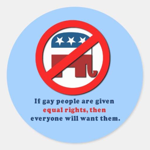 Si la gente gay consigue las derechas iguales pegatina redonda
