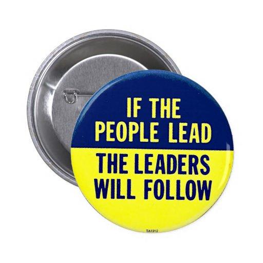 Si la gente lleva - botón pins