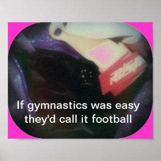 Si la gimnasia era fácil póster