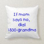 si la mamá dice no… (el azul) almohada
