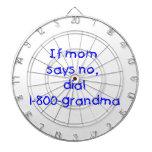 si la mamá dice no… (el azul) tablero de dardos