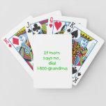 si la mamá dice no… (el verde) baraja cartas de poker