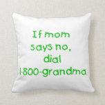 si la mamá dice no… (el verde) cojines