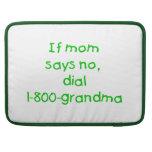 si la mamá dice no… (el verde) funda para macbooks
