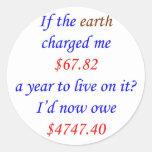 Si la tierra me cargó… 70 etiquetas redondas