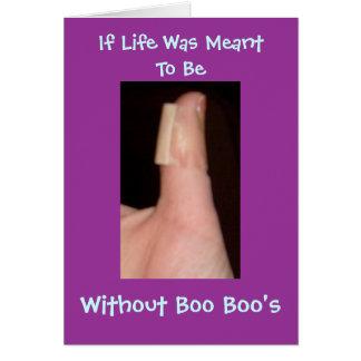 Si la vida fue significada para ser, sin abucheo… tarjeta de felicitación