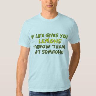 Si la vida le da la camiseta de los limones poleras